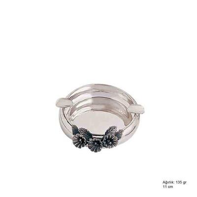 Tekbir Silver - 925 Ayar Gümüş Orkide Desenli Küllük