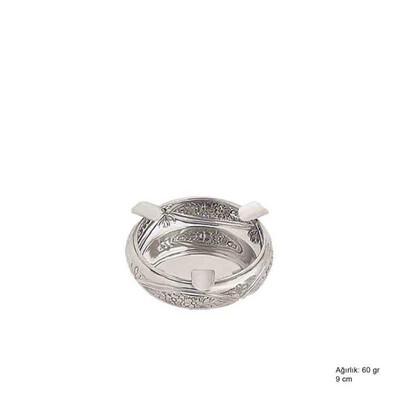 Tekbir Silver - 925 Ayar Gümüş Papatya Desenli Küllük