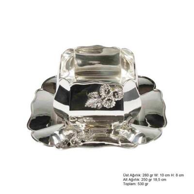 Tekbir Silver - Amaryllis Desenli Gümüş Boller