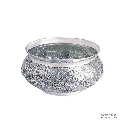 Tekbir Silver - Çiçek Desenli Gümüş Şekerlik