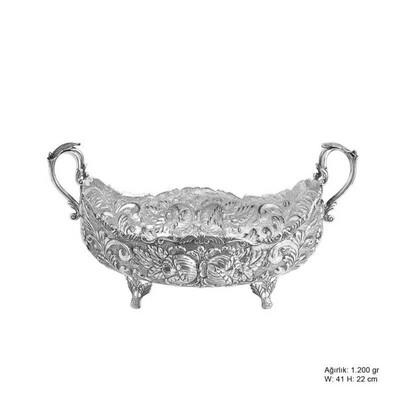 Tekbir Silver - Gül Desenli Gümüş Boller