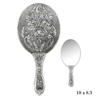 Tekbir Silver - Gül Motifli El Aynası