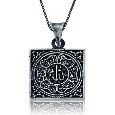 Tekbir Silver - Gümüş Allah Yazılı Bayan Kolye