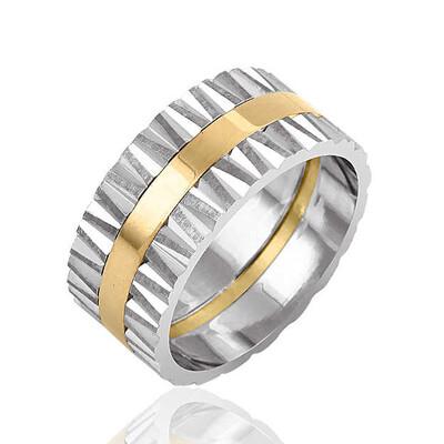 Tekbir Silver - Gümüş Altın Kaplama Alyans