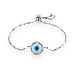 Tekbir Silver - Gümüş Asansörlü Nazar Bayan Bileklik