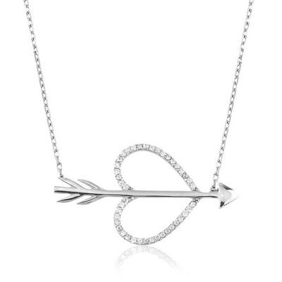 Tekbir Silver - Gümüş Aşk Oku Bayan Kolye