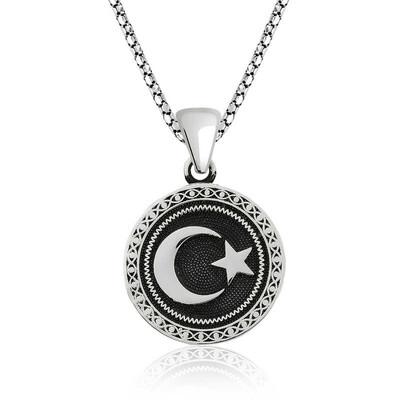Gumush - Gümüş Ay Yıldız Kolye