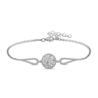 Gumush - Gümüş Baget Taşlı Bileklik