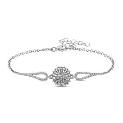 Gumush - Gümüş Baget Taşlı Sonsuzluk Bayan Bileklik