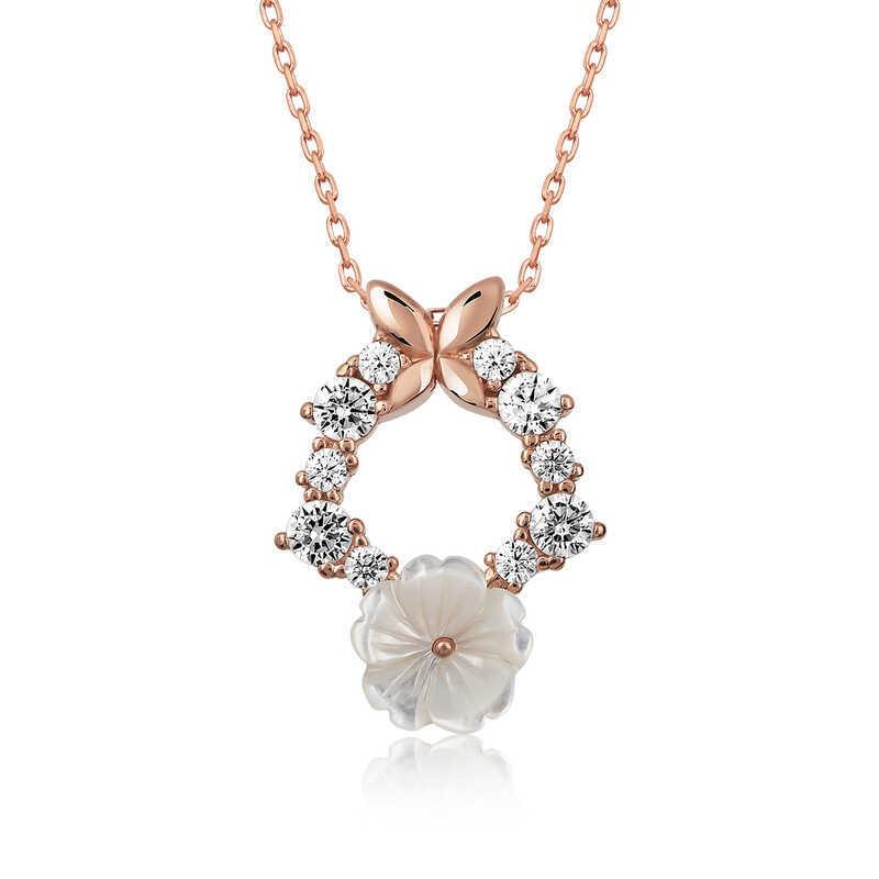Gümüş Bahar Çiçeği Kolye
