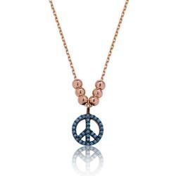 Tekbir Silver - Gümüş Barış Sembolü Bayan Kolye