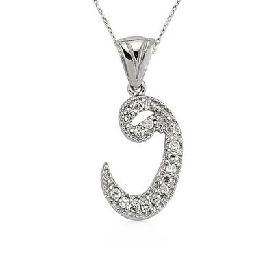Tekbir Silver - Gümüş Bayan Vav Kolye