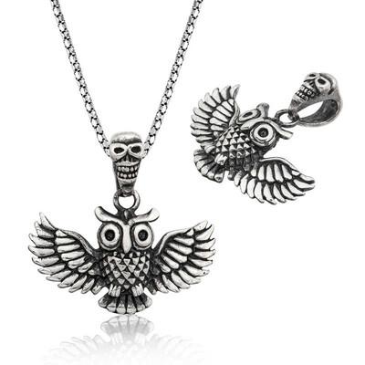 Tekbir Silver - Gümüş Baykuş Erkek Kolye