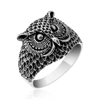 Gumush - Gümüş Baykuş Erkek Yüzük
