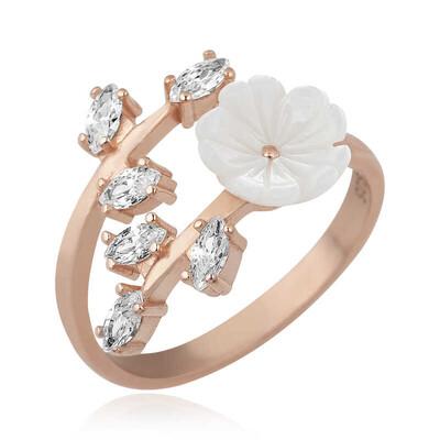 Gumush - Gümüş Beyaz Bahar Çiçeği Yüzük