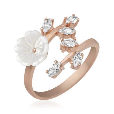 Gumush - Gümüş Beyaz Bahar Çiçeği Yüzük (1)