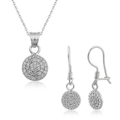 Tekbir Silver - Gümüş Beyaz Yuvarlak Bayan Set