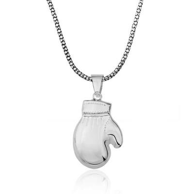 Tekbir Silver - Gümüş Boks Eldiveni Erkek Kolye