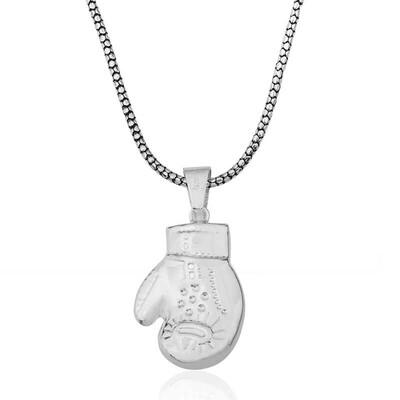 Tekbir Silver - Gümüş Boks Eldiveni Erkek Kolye (1)