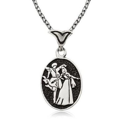 Tekbir Silver - Gümüş Çerkes Erkek Kolye