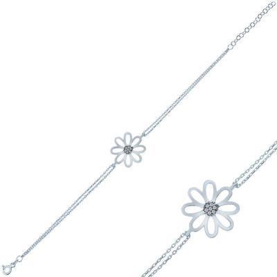 Gumush - Gümüş Çiçek Bayan Bileklik