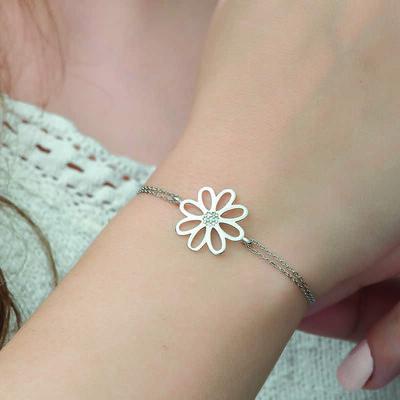 Gumush - Gümüş Çiçek Bayan Bileklik (1)