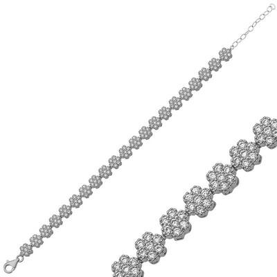 Tekbir Silver - Gümüş Çiçek Bayan Bileklik