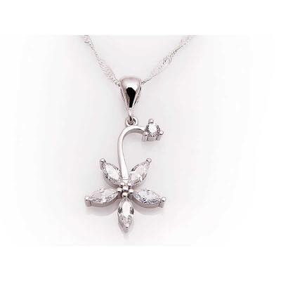 Tekbir Silver - Gümüş Çiçek Bayan Kolye