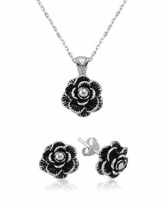 Tekbir Silver - Gümüş Çiçek Bayan Set