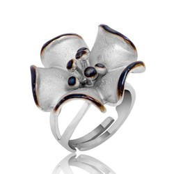 Tekbir Silver - Gümüş Çiçek Bayan Yüzük