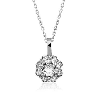 Gumush - Gümüş Çiçek Kolye