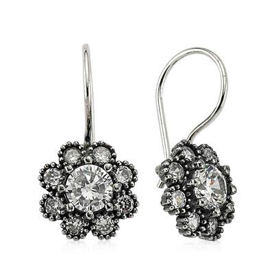 Tekbir Silver - Gümüş Çiçek Küpe (1)