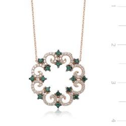 Tekbir Silver - Gümüş Çiçekli Bayan Kolye