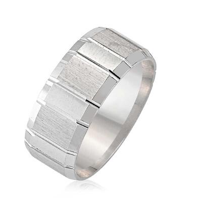 Tekbir Silver - Gümüş Çizgili Bay - Bayan Alyans