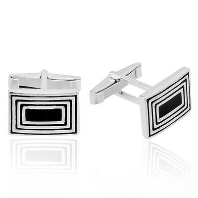 Tekbir Silver - Gümüş Çizgili Kol Düğmesi