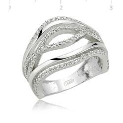 Tekbir Silver - Gümüş Dalgalı Bayan Yüzük