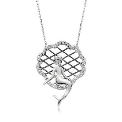 Tekbir Silver - Gümüş Deniz Kızı Bayan Kolye
