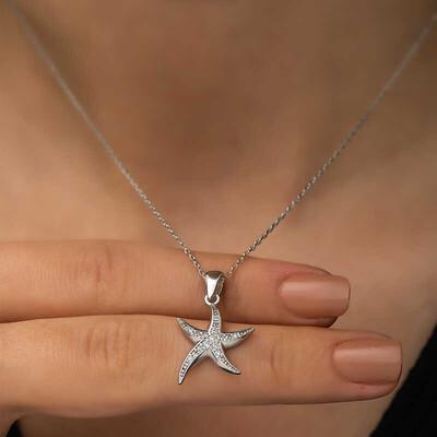Gumush - Gümüş Deniz Yıldızı Bayan Kolye (1)