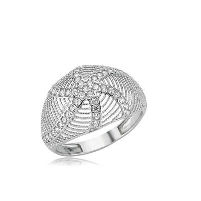 Tekbir Silver - Gümüş Deniz Yıldızı Bayan Yüzük