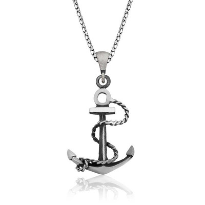 Tekbir Silver - Gümüş Denizci Çapası Kolye