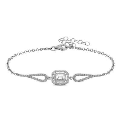 Gumush - Gümüş Dikdörtgen Baget Bileklik