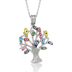 Tekbir Silver - Gümüş Dilek Ağacı Kolye