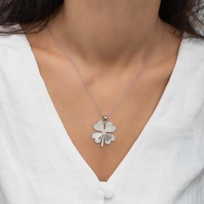 Gumush - Gümüş Dört Yaprak Yonca Bayan Kolye (1)