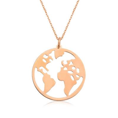Tekbir Silver - Gümüş Dünya Kolye
