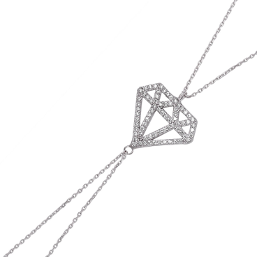 Tekbir Silver - Gümüş Elmas Model Şahmeran Bileklik