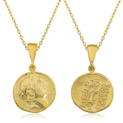 Tekbir Silver - Gümüş Eski Yunan Parası Kolye