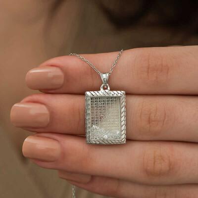 Gumush - Gümüş Esma'ül Hüsna Yazılı Kolye (1)