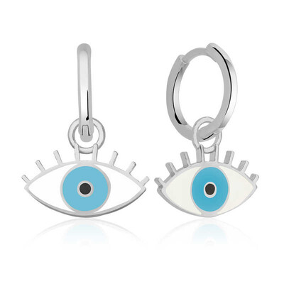 Gumush - Gümüş Fosforlu Mavi Göz Küpe