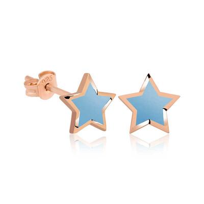 Gumush - Gümüş Fosforlu Mavi Yıldız Küpe
