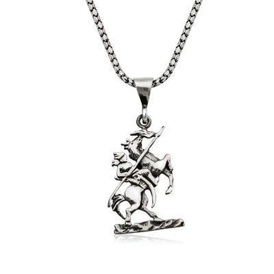 Tekbir Silver - Gümüş Göktürk Süvarisi Kolye